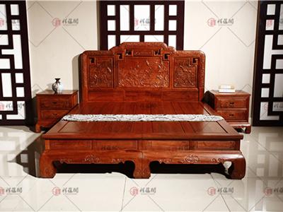 卧室红木家具  2米红木大床
