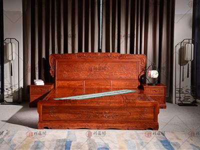 卧室红木家具 东阳木雕红木大床