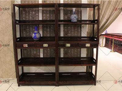 书房红木家具 大红酸枝红木明式书柜