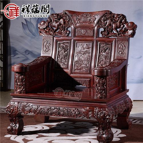 老挝红酸枝 红酸枝的十一件套红木沙发