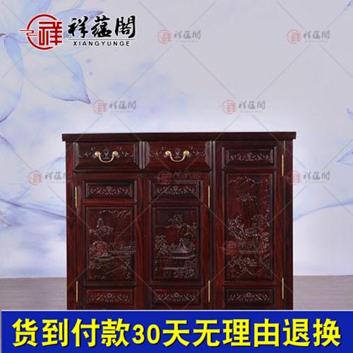 上海黑酸枝餐边柜_上海红木家具黑酸枝餐边柜