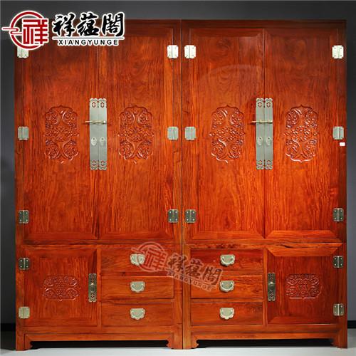 红木家具卧室家具 红木双门衣柜