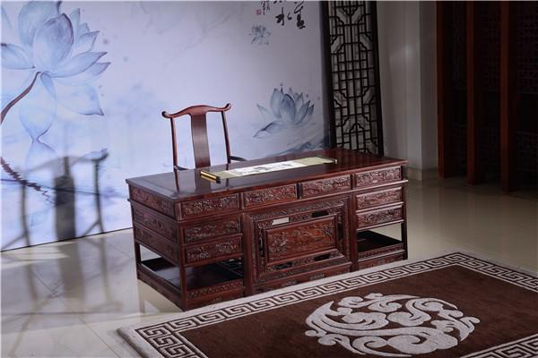 2019最新老挝红酸枝书桌价格 老挝红酸枝书桌的摆放风水