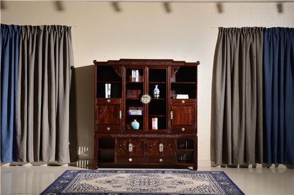 红木书柜常规尺寸能够和多种家具搭配吗