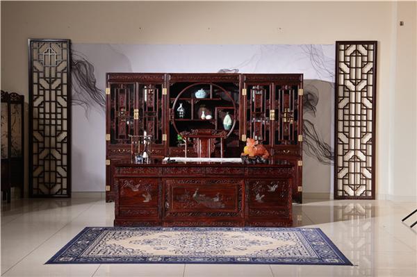 红木书桌书柜尺寸选择技巧介绍