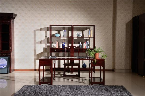 清式红木书柜的特点和仿古装修房屋更契合