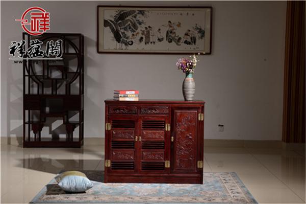 2019最新老挝红酸枝鞋柜的价格  老挝红酸枝鞋柜的摆放搭配