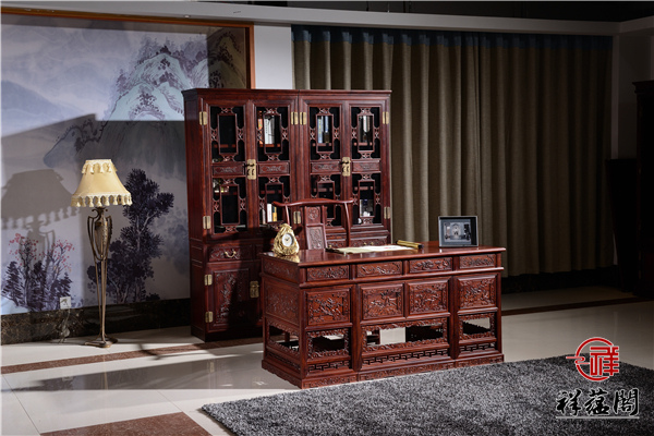 红木书柜配什么家具才能够展现古色古香主题