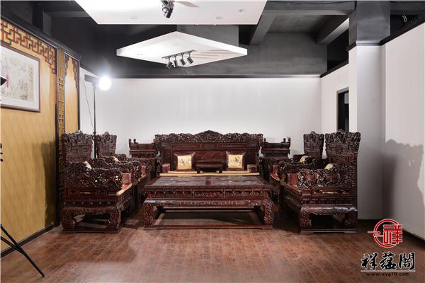 雕梁画栋红木沙发价格及雕梁画栋沙发图片欣赏