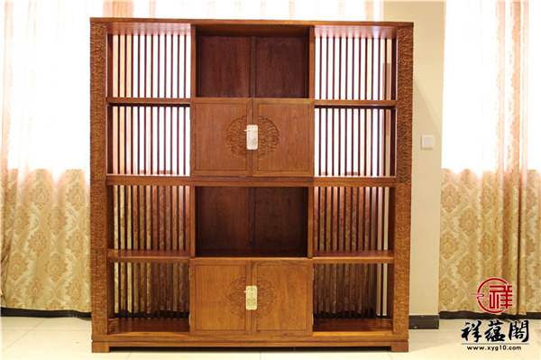 定做红木书柜有标准尺寸可供用户选择