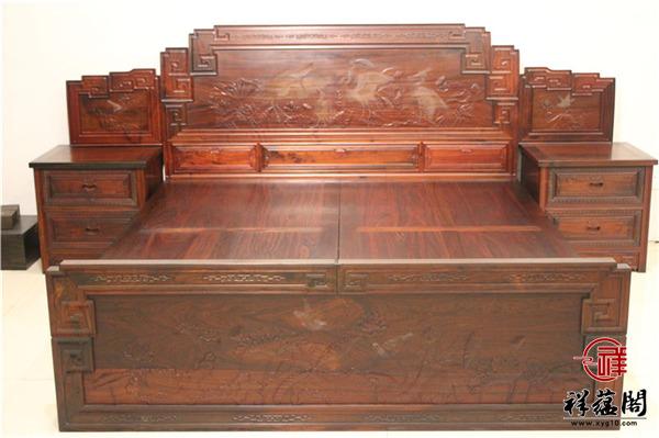 国色天香红木双人床价格及国色天香双人床图片欣赏