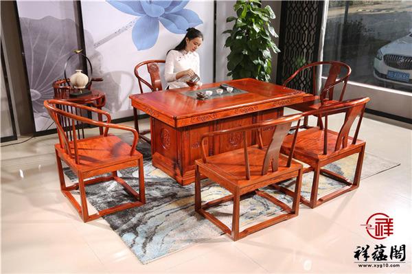 红木茶桌椅套装介绍以及红木茶桌椅套装的优点