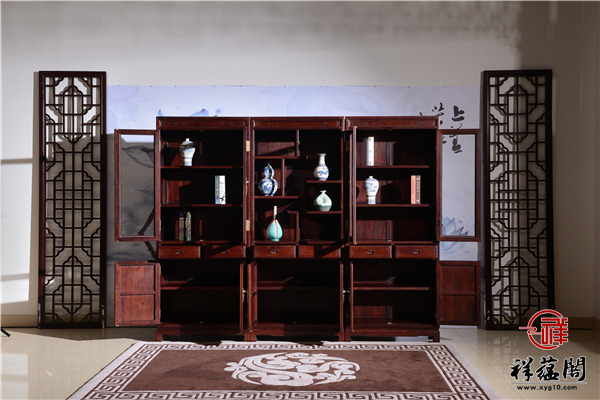 红木书柜摆什么用更便捷