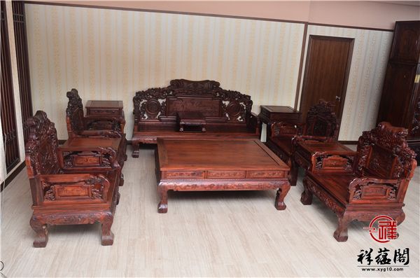 红木沙发1+1+1+1+3组合十一件套尺寸及图片欣赏