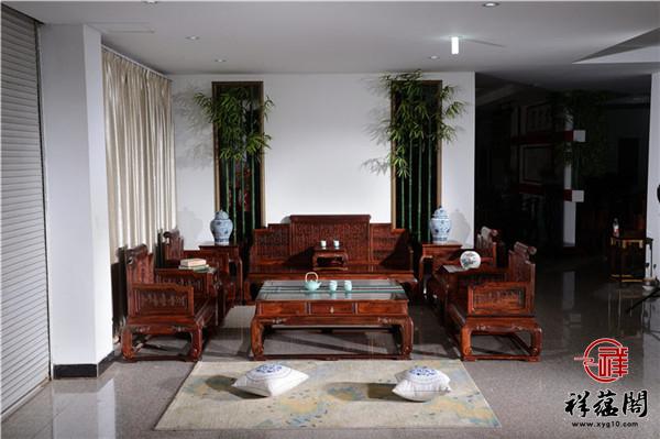 花边半月红木沙发价格及花边半月沙发图片欣赏