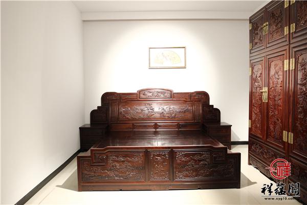 金玉满堂红木架子床价格及金玉满堂木架子床图片欣赏
