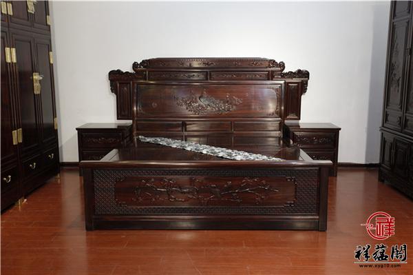 龙凤呈祥红木大床价格及龙凤呈祥木大床图片欣赏