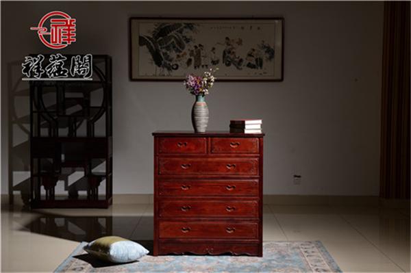 杨柳依依红木五斗柜价格及杨柳依依五斗柜图片欣赏