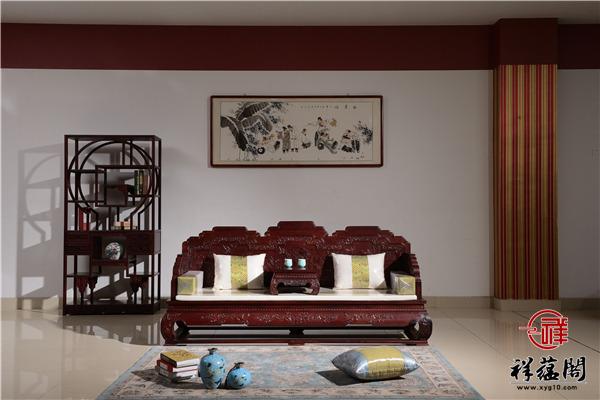 红木沙发十三件套组合尺寸及图片欣赏
