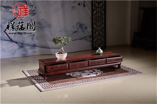 红木电视柜标准尺寸是多少客厅多大才能放得下