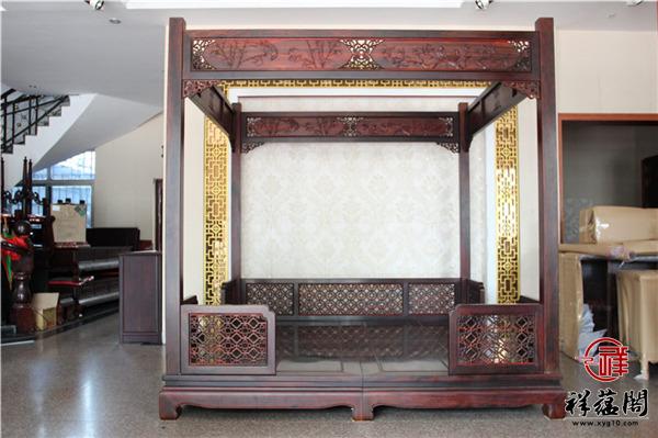 红木架子床两件套尺寸 红木架子床三件套图片欣赏