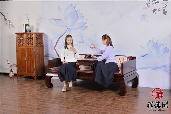 红木罗汉床三件套尺寸 红木罗汉床三件套图片欣赏