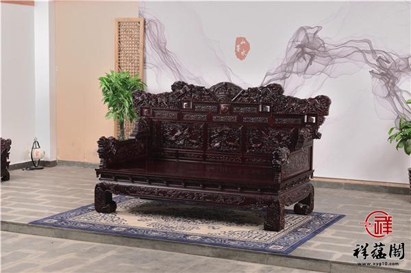 红木罗汉床四件套尺寸 红木罗汉床四件套图片欣赏