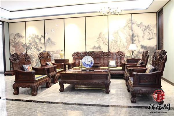六件套红木沙发尺寸 六件套红木沙发图片欣赏