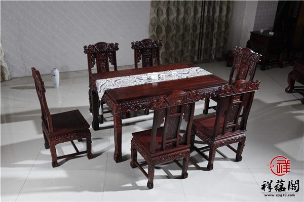 红木餐桌八件套尺寸 红木餐桌八件套图片欣赏