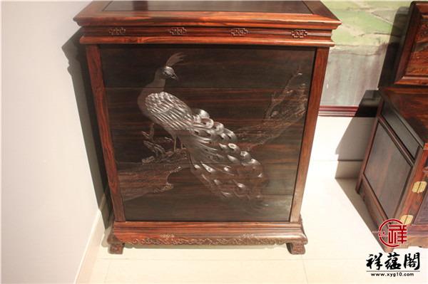 二门二抽红木斗柜价格及二门二抽红木斗柜图片欣赏