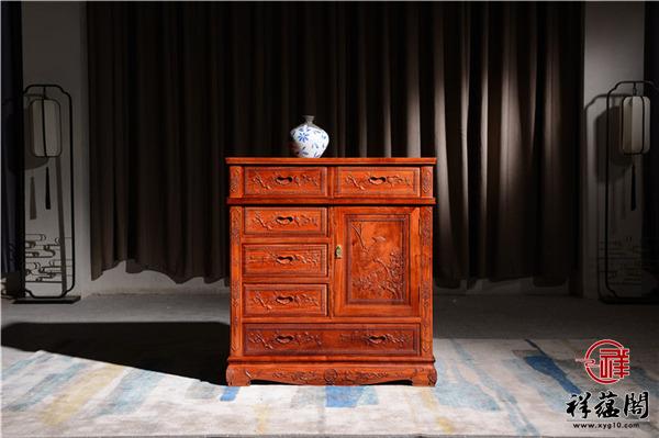 缅甸花梨的抽屉式红木斗柜价格及尺寸图片