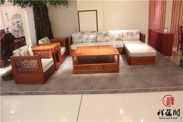 大果紫檀沙发五件套尺寸 大果紫檀沙发五件套图片欣赏