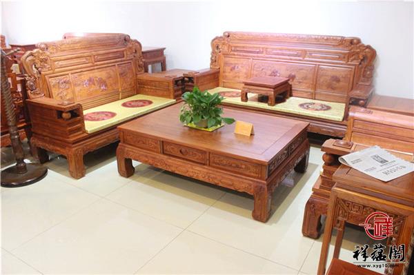 红酸枝红木沙发七件套尺寸 红酸枝红木沙发七件套图片欣赏