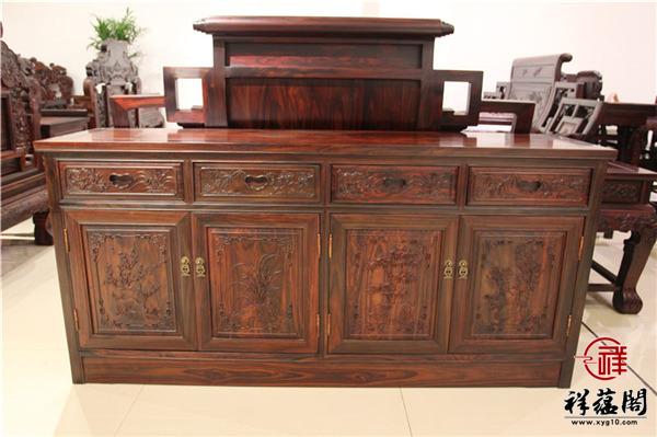 最新红木餐边柜尺寸大全  红木餐边柜的保养