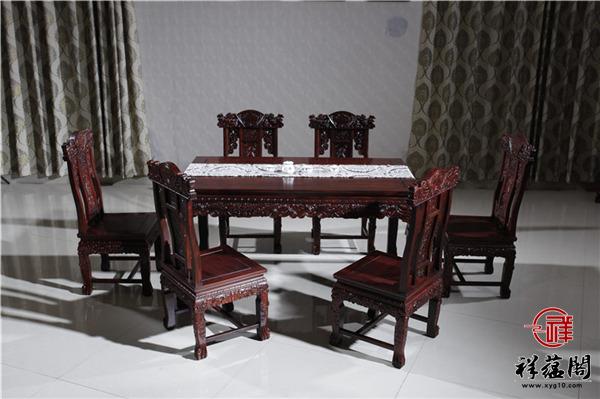 红木餐桌十一件套尺寸 红木餐桌十一件套图片欣赏