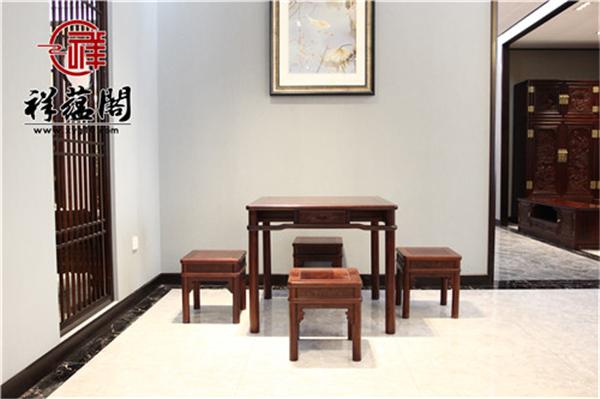 红木餐桌五件套尺寸 红木餐桌五件套图片欣赏
