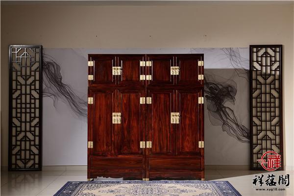 四门带抽屉红木顶箱柜价格及四门带抽屉顶箱柜图片欣赏