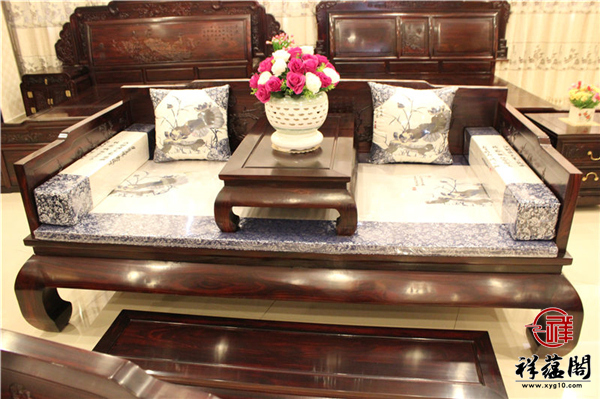 黑酸枝罗汉床三件套尺寸 黑酸枝罗汉床三件套图片欣赏