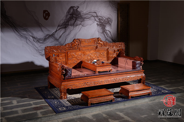 缅甸花梨木红木贵妃床价格及图片欣赏