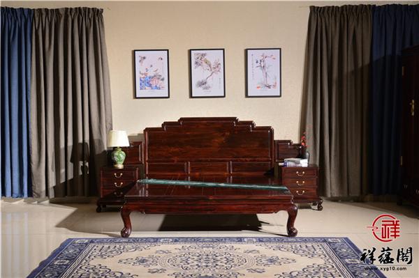 印尼黑酸枝的2米红木架子床价格及图片欣赏