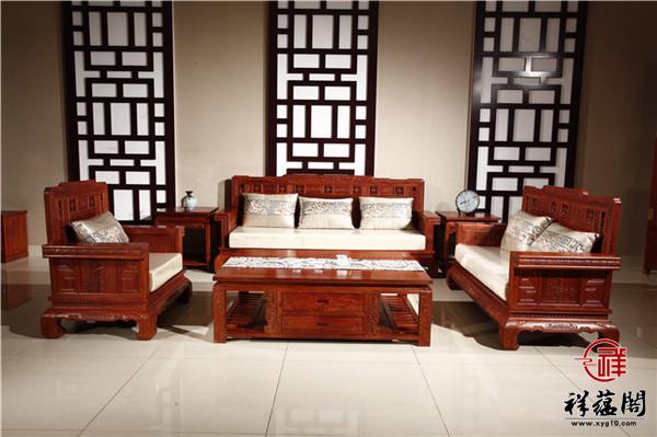 缅甸花梨大果紫檀红木沙发价格及图片欣赏