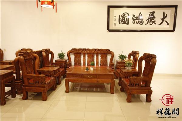 缅甸花梨六件套红木沙发尺寸 缅甸花梨六件套沙发图片欣赏