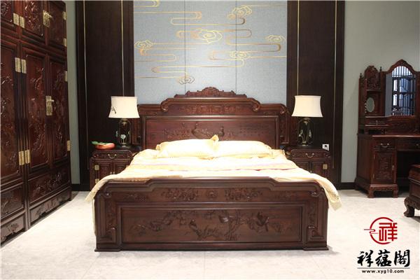 巴里黄檀红木床价格及图片欣赏
