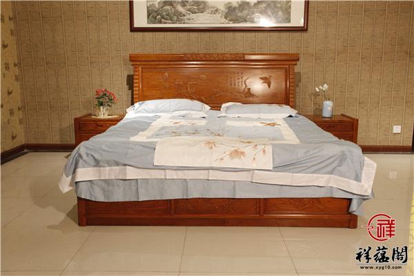 大果紫檀红木床价格及图片欣赏