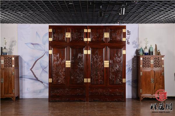 印尼黑酸枝红木三组合顶箱柜尺寸价格及图片欣赏