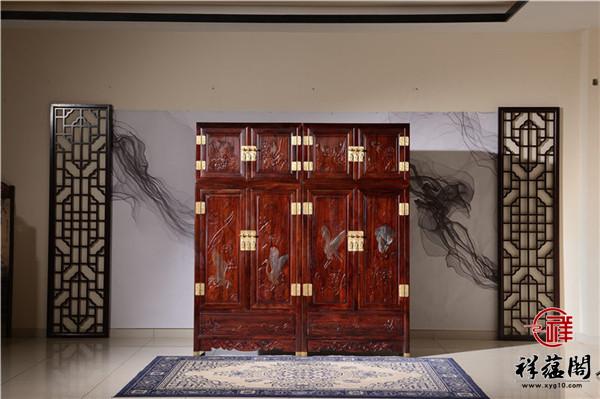印尼黑酸枝六门红木顶箱柜价格及图片欣赏
