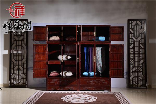 巴里黄檀四门带抽屉红木顶箱柜价格及图片欣赏