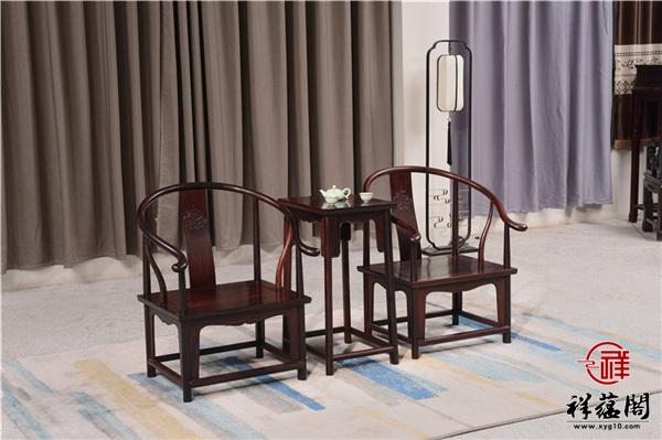 红木皇宫椅单椅 红木皇宫椅三件套的鉴别方法