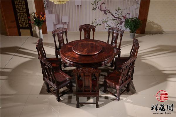 印尼黑酸枝的2米宽红木餐桌价格及图片欣赏
