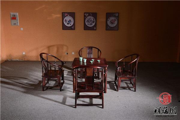 植物雕花红木餐桌价格及图片欣赏
